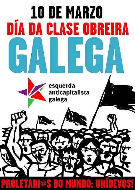 10 de marzo: día da clase obreira galega  Cartaz