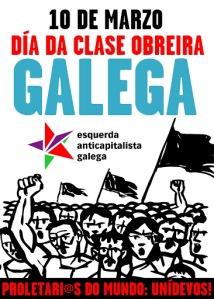10 de marzo: día da clase obreira galega | Cartaz